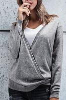 Deep V Neck  Plain Sweaters
