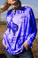Trend Letter Printed Raglan T-Shirt