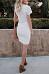 Crew Neck  Asymmetric Hem  Plain  Short Sleeve Bodycon Dresses