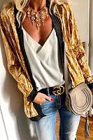 Fashion Printed Stitching Long Sleeve Cardigans