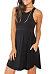 Round Neck  Asymmetric Hem  Plain  Sleeveless Casual Dresses