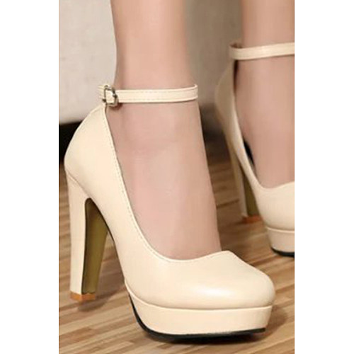 Stiletto Casual Rubber Plain Heels