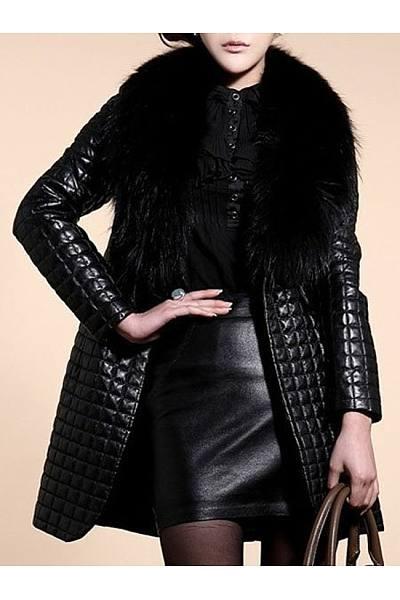 Comfortable Fur Collar Overcoats