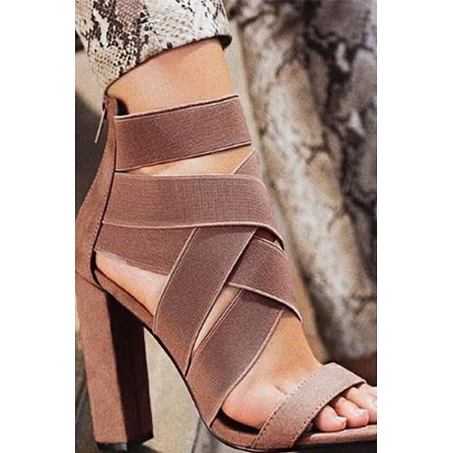 Plain Peep Toe Date Dress Sandals