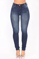 Long  Sheath  Cotton  Plain  Jeans