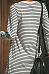 Round Neck  Slit  Striped  Long Sleeve Maxi Dresses