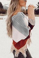 Casual  Striped  Long Sleeve Sweaters