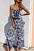 Off Shoulder  Elastic Waist  Abstract Print  Sleeveless Jumpsuits