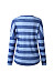 V Neck Stripes Long Sleeve Button T-Shirts