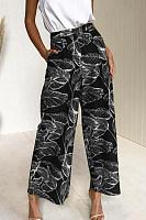 Loose  Fitting  Printed  Pants