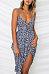Spaghetti Strap  Bowknot Single Breasted  Dot  Sleeveless Maxi Dresses