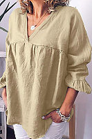 Casual Solid Color Large Size Loose Cotton T-Shirt