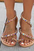 Bohemian  Flat  Peep Toe  Date Travel Wedding Flat Sandals