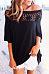 Decorative Lace  Plain T-Shirts