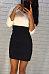 Round Neck  Color Block Patchwork Bodycon Dresses