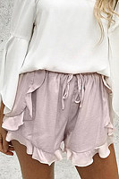 Cascading Ruffles  Plain Pants