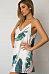 Spaghetti Strap V Neck  Backless  Printed  Sleeveless Casual Dresses