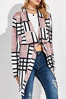 Fold Over Collar  Asymmetric Hem  Geometric Cardigans