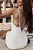 Sexy Halter Solid Color Backless Slim Dress