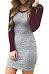 Round Neck Sheath Long Sleeve Bodycon Dress