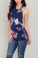 Halter  Backless  Printed Camis