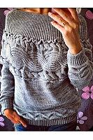 Open Shoulder  Backless Ruffle Trim  Crochet  Embossed Sweaters