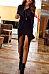 Round Neck  Asymmetric Hem  Plain Bodycon Dresses