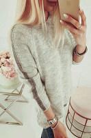 Casual Plain Long Sleeve Sweaters