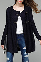 Casual Round Neck Cardigans