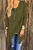 Asymmetric Hem Tassel  Plain Cardigans