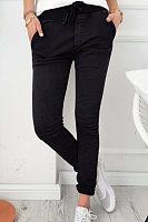 Slim Leg Belt Plain Pants
