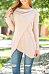 Round Neck  Asymmetric Hem  Plain T-Shirts