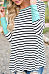 Hooded  Color Block Striped T-Shirts