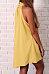 High Neck  Plain  Sleeveless Casual Dresses