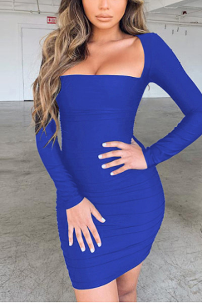 Women Sexy Plain Bodycon Dresses