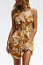 Spaghetti Strap  Single Breasted  Printed  Sleeveless Casual Dresses
