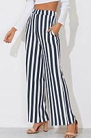 Stripe Wide Leg Trouser Pants