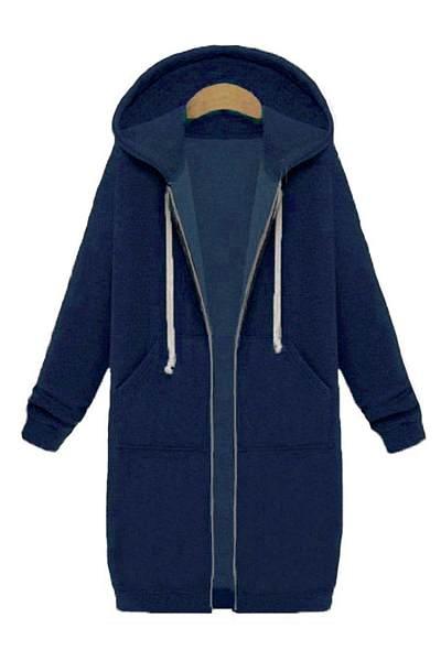 Fashion Long Sleeve Loose Hoodie Coat
