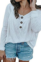 Women's Round Neck Button Sweater