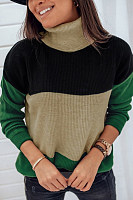 High Collar Knit Casual Sweater