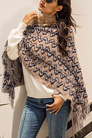 Abstract Print  Sleeveless Sweaters