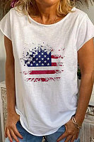 Amercian Flag Loose T-shirt
