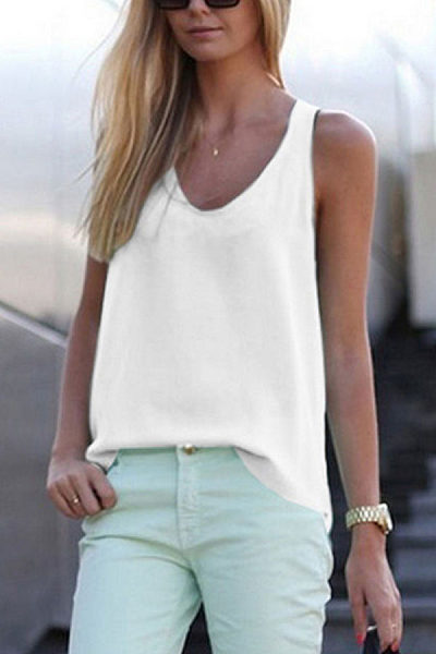 Round Neck  Plain Vests