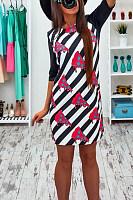 Round Neck  Long Sleeve Bodycon Dresses