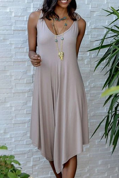 Sling Loose-Fitting Solid Jumpsuit