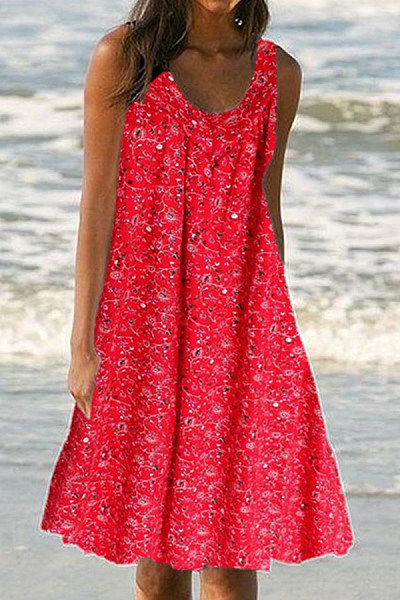 2020 Summer Printed Casual Dress