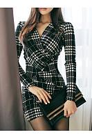 V-Neck Plain Mini Bodycon Dress