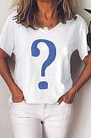 Round Neck  Geometric T-Shirts