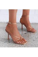Fashion sexy square toe high heel sandals