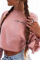Round Neck  Embroidery Sweatshirts